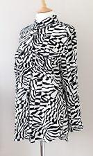 EQUIPMENT silk blouse shirt major geometric zebra print Small