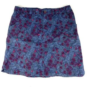 Duluth Trading Women's 16 DuluthFlex Skirt Floral Casual Cotton Stretch