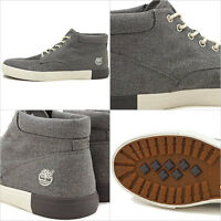 Timberland Mens Newport Bay 2.0 Dark Gray Canvas Chukka shoes sneakers A1AX1 USA