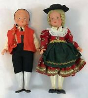 "Lot Figure Vintage Westo Doll Native Costume Germany 8 1/2"" Tall Rare"