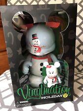 "Disney Vinylmation 9"" & 3"" SNOWMAN MICKEY - Holiday 2 - Sealed - NIB NEW LE 1000"