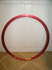 NEW VELOCITY DEEP V RED RIM: 32H, NON-MSW, 700C, WHEEL, NO SPOKES OR HUB INC.