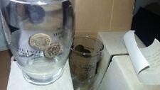 Vintage Bar Glasses Mid Century 8 OZ Tumblers High Ball 6 Pc Set Coins