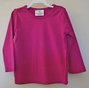New With Tags Hanna Andersson Violet Pima Cotton Knit Top Sz 80, 10-24M