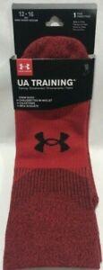 Under Armour UA Training Crew Socks Red Men's Size XL 12-19 New