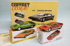 Dinky Toys / Atlas - Coffret 2 CARABO BERTONE 1970 mécanique Alfa Roméo réf. 142