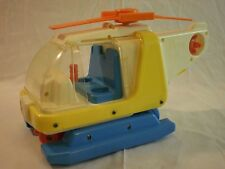 Vintage Chicco Toy Helicopter (Made in Italy) Colorful Plastic Very Hard To Find