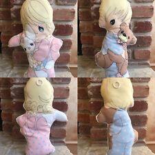 Precious Moments  VIntage Boy & Girl  Plush Doll FIgure Home Decor Pillow Set