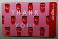 2019 TIM HORTONS GIFT CARD  ~THANK YOU (Coffee Cups)~ 1 of 3 ~FREE ship~Unloaded