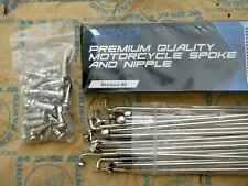 Motorcycle Wheel Spoke & Nipple Set 184mm 184 mm 36 pcs. Chromed - FREE SHIPPING