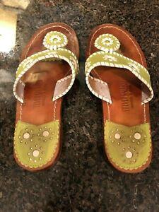 Ladies Steven Salario Jack Rogers Style Lime Green Sandals 6