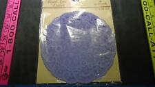 """VINTAGE HALLMARK PAPER FRENCH LACE DOILIES 12 6"""" PURPLE IN COLOR VERY PRETTY"""