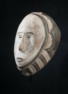 Fang Style Ngontang Face Mask, Central Gabon, Tribal Art, Equatorial African Art