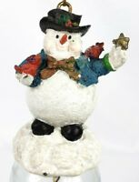 Christmas Avon Gift Tree Ornament Snowman Collection Holiday Glass Bell