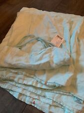 Anthropologie Linen Shower Curtain Sky Blue Nwt