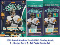 2019 Panini ABSOLUTE Football NFL Cards 1-BLASTER BOX + 2-FAT PACKS Combo Set