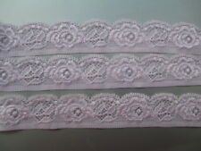 5 yards of high quality stretch lace embroidery lace pink Free Shipping!