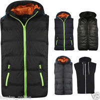 BRAND NEW MENS PLAIN SLEEVELESS TOP BODY WARMER JACKET WAISTCOAT HOODED GILET
