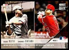 2018 Topps Now MOMENT OF THE WEEK #1 Shohei OHTANI - Babe RUTH