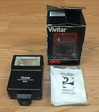 Vintage Vivitar 1900 Electronic Camera Flash Adapter Attachment With Box *READ*