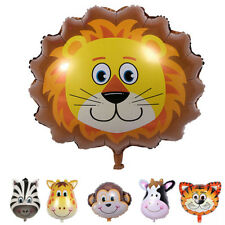 6pcs Mini Animal Head Foil Balloons Inflatable Balloons Baby Shower Party Decor