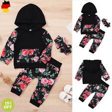 Baby Mädchen Trainingsanzug Kinder Kleidung Sportanzug Blumen Kapuze Tops Hosen