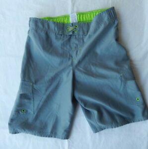 Cherokee Board Shorts Swim Trunks Boys Size XL (16)Gray Mesh Lined