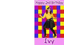 Wiggles Wiggly Emma Wiggle Girl's Personalised Birthday Card - any name & age