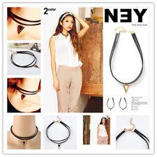 Necklace Leather Pendant Bib ChainFashion Elegant Gothic Cord Choker Charm Retro