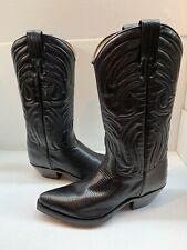 Tony Mora Western Women's Made in Spain Black Lizard boot 320 Size  9.5
