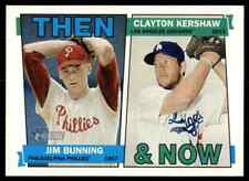 2016 Topps Heritage Then and Now Jim Bunning / Clayton Kershaw #TAN-BK