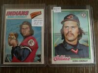 Lot of 2 - Dennis Eckersley EX - 1977 Topps #525 & 1978 Topps #122 - 2nd/3rd YR
