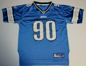 NFL Football Detroit Lions Ndamukong Suh #90 Jersey Youth Large Reebok On Field