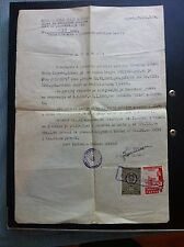 YUGOSLAVIA- CROATIA- DEATH TO FASCISM FREEDOM TO THE PEOPLE - CERTIFICATE 1954