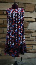 PETER PILOTTO for Target Red Floral Print Dress Sleeveless Shift small SM NWT