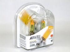 Nokya 2500k 55w Hyper Yellow H7 Halogen Headlight Low Beam Bulbs C