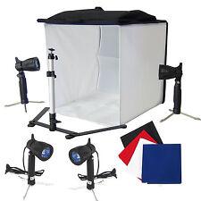 Cube Lumière Softbox Tente DynaSun PB5L Boite Lumière Trépied 4x Lampe 4x Fond