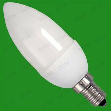 6x 7W Low Energy CFL Micro Candle ((96 x 38 mm) Light Bulbs SES, E14 Screw Lamps