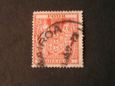 *NEW ZEALAND, SCOTT # AR-49 4/- VALUE DULL RED 1932 COAT OF ARMS ISSUE USED