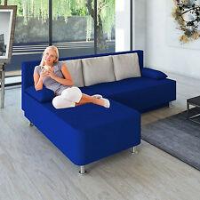 """VCM Ecksofa """"magota Blau"""" / Couch mit Schlaffunktion"""