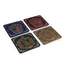 4 Hogwarts House Crest Drinks Coasters Harry Potter Table Mat