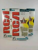 RCA T-120 6 Hour (3) Blank VHS Video Tapes - New/Sealed