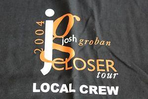 Josh Groban / TOUR T-SHIRT /   - CREW size XL - Black - Get Closer 2004