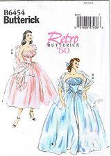 Vtg 50s Strapless Ruffle Dress Shawl Butterick Sewing Pattern Sz 14 16 18 20 22