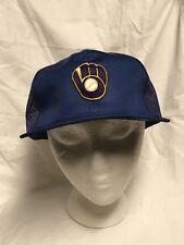 Vintage Milwaukee Brewers Snapback Trucker Hat Cap