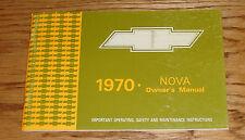 1970 Chevrolet Nova Owners Operators Manual 70 Chevy