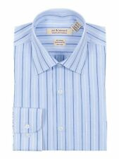 Classic Fit Light Blue Striped Easy Care Non Iron 100% Cotton Dress Shirt