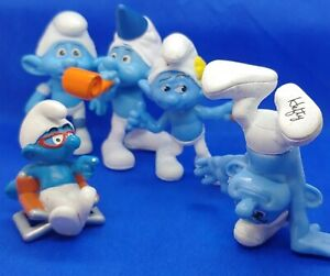 Smurfs 'Movie Director' Smurf ~ Also 4 McDonalds 2013 Smurfs lot