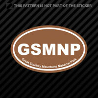 Great Smokey Mountains National Park Brown Oval Sticker Vinyl Euro GSMNP