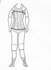 "15-17""ANTIQUE CHINA HEAD/PARIAN LADY DOLL CLOTH BODY CORSET PATTERN"